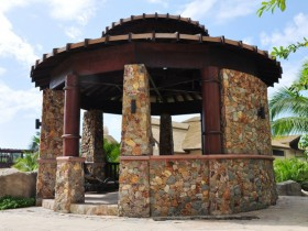 Creative design stone gazebo