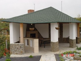 Garden gazebo made of stone