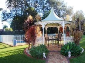 Metal gazebo for garden
