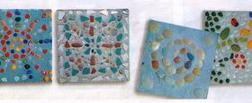 Украшенная бетонная плита