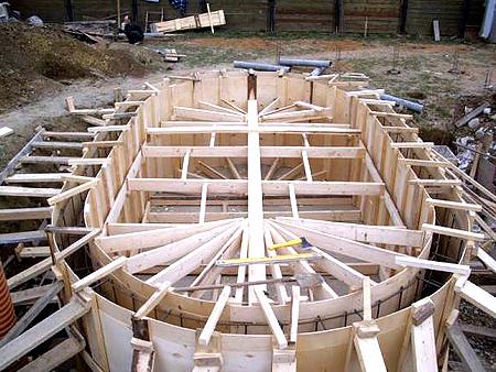 Опалубка для вертикальных стен бассейна