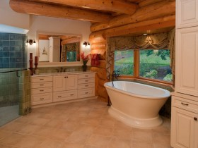 The interior design of large bathroom