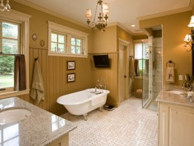 Beautiful interior large bathroom