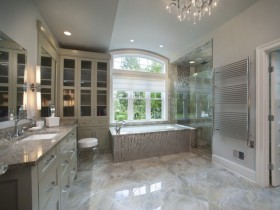 Luxury design large bathroom