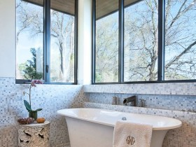 Large bathroom with natural light