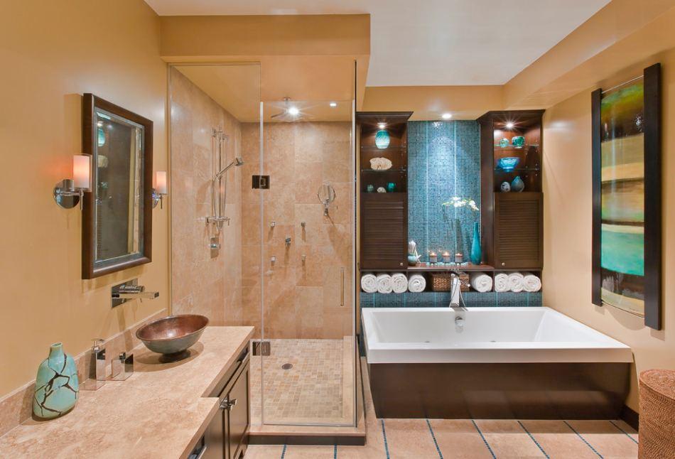 Ванная в коттедже дизайн