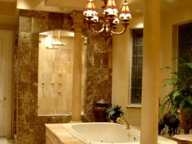 Bathroom with columns