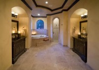 Large bathroom in Oriental style