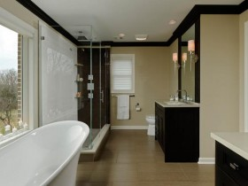 Large bathroom with toilet