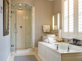 Large bathroom in a private house