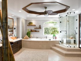 Interior large bathroom