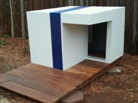 Kennel for dogs in a minimalist style