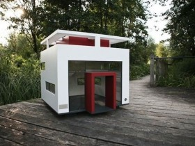 Kennel for dogs in high-tech style