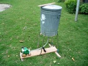 Пример самодельного садового измельчителя