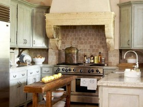 The idea of the kitchen design in country style