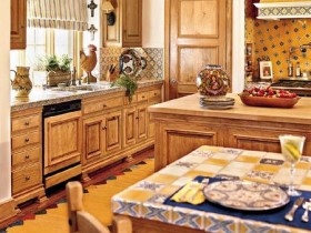 Country style kitchen interior