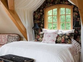 Bedroom interior in country style