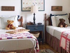 Children's bedroom in country style