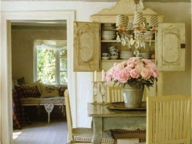 Country style in interior space