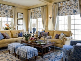 Living room interior in country style