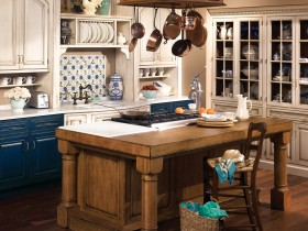 An example of a kitchen in country style
