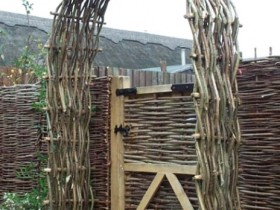 The wicker garden gate