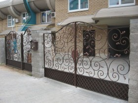 A beautiful wrought iron gate