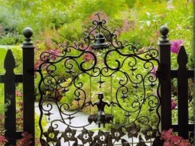 Beautiful wrought-iron gate at the cottage