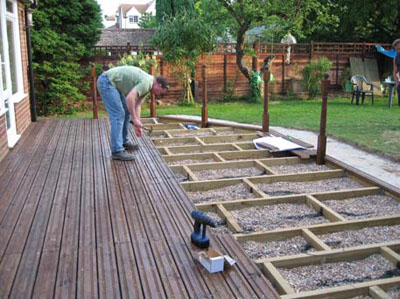 Некоторые особенности монтажа садового паркета
