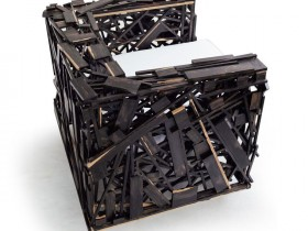 Armchair in the style of deconstructivism