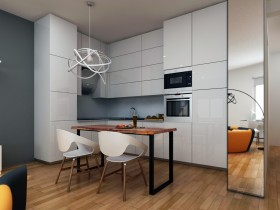 Kitchen in the style of deconstructivism