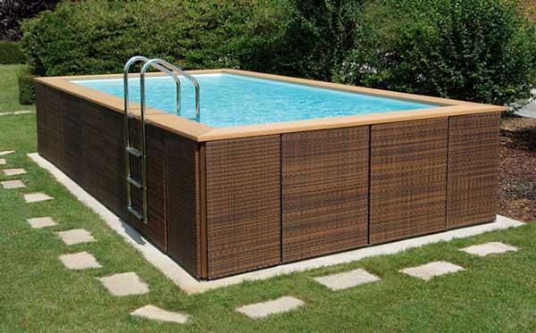 Фото пример деревянного бассейна