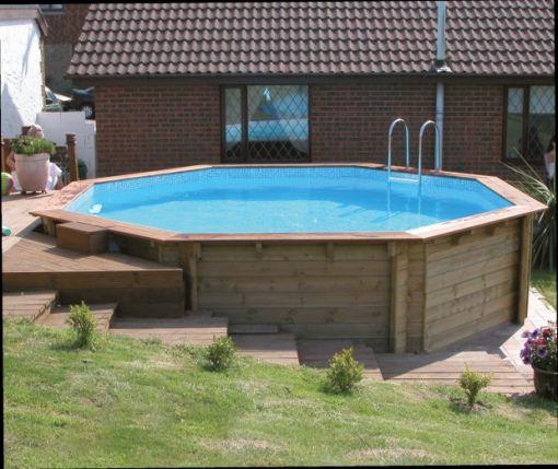 Готовый деревянный бассейн для дачи