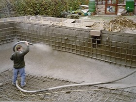 Sprayed concrete