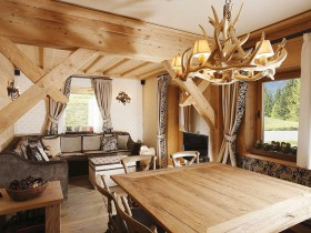 Living in a wooden house