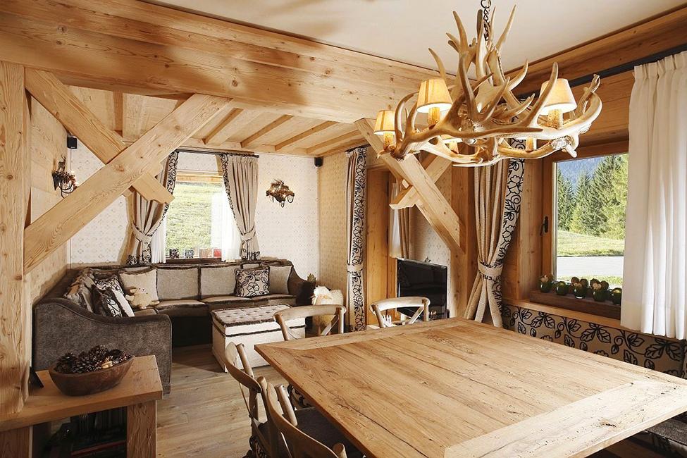 Интерьер своими руками для деревянного дома