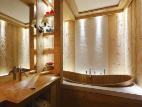 """The interior of the bathroom """"under the tree"""""""