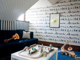 Play area for the boy