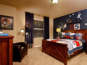 Children's room for a future baseball player