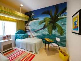 Beach children's room interior