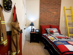 Children's room for a future firefighter