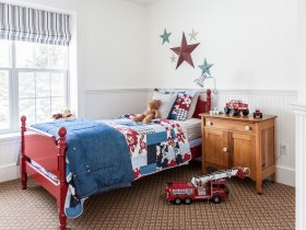 Children's room for boy in country style