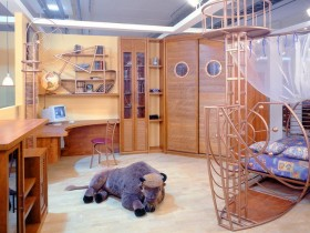 The idea of children's room design for boy
