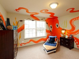Nautical elements in the interior of child