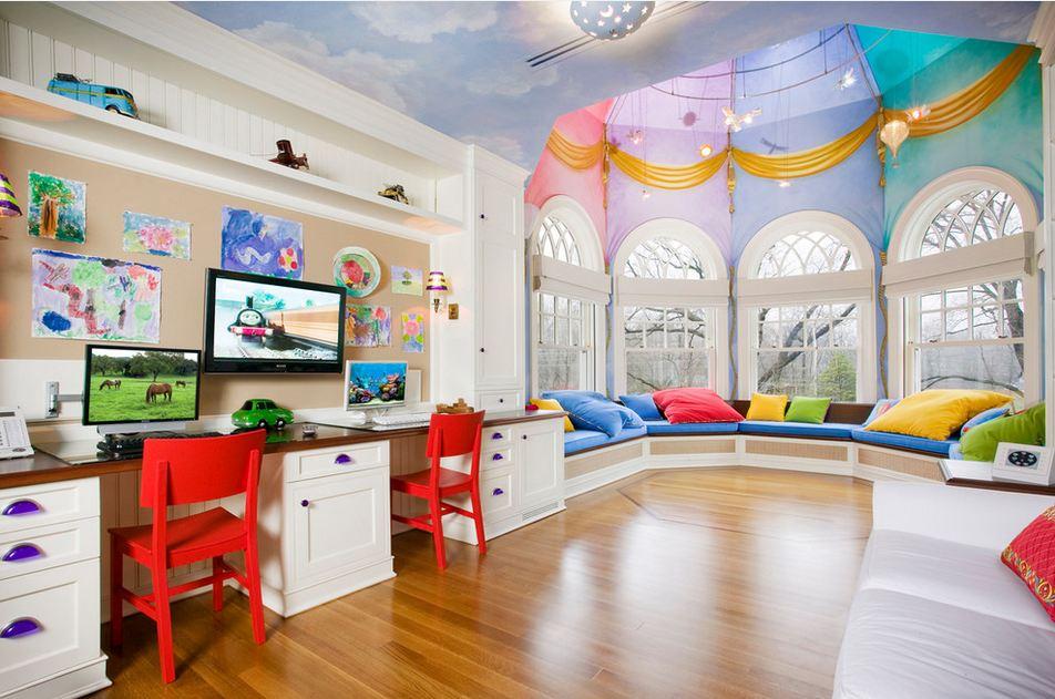 Большие детские комнаты фото
