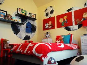 Children room football player