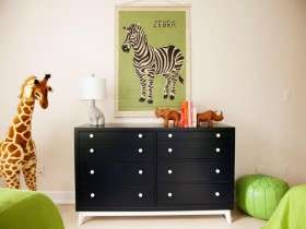 The furniture in the nursery