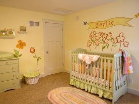 Children's room in bright colors