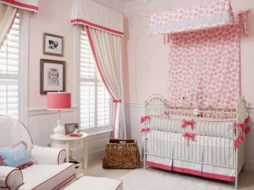 The glamorous baby room design