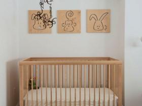 Nursery for a newborn in a Scandinavian style